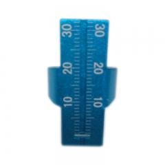 瑞尔德 铝合金巴西进口根管测量指尺(蓝色)B009a