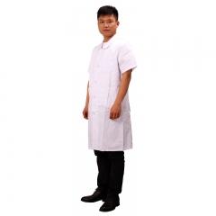医生服 男医生服 短袖衣领按扣式单件