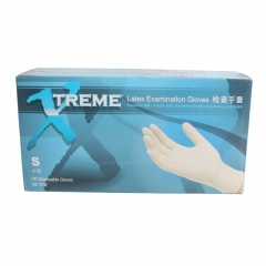 爱马斯/AMMEX  乳胶手套  有粉 麻面XS