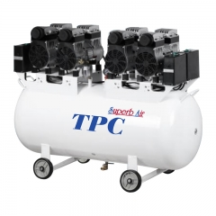 TPC 无油静音空压机 一拖八(DC704)
